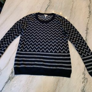 Joie Hideaki Metallic Chevron Sweater